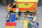 Quels équipements font partie des ambulances Audi?