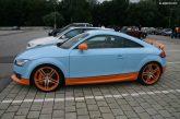 Les Audi en décoration Gulf Racing de Michael Dick