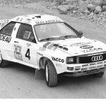 Trois Audi quattro engagées au rallye Paris-Alger-Dakar 1985