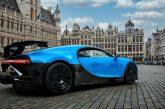 La Bugatti Chiron Pur Sport exposée dans la capitale européenne