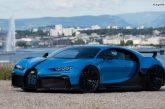 Exposition de la Bugatti Chiron Pur Sport à Genève
