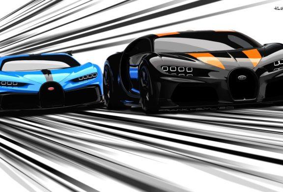 Les hypersportives de l'extrême Bugatti du point de vue du design