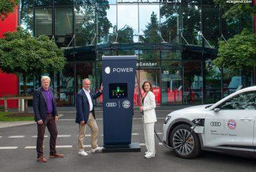 Audi équipe les terrains d'entraînement du FC Bayern de bornes de recharge électriques