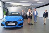 Visite du ministre bavarois des Transports Kerstin Schreyer chez Audi à Ingolstadt