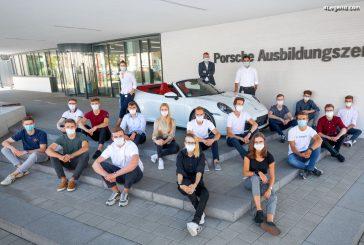 143 apprentis débutent leur carrière chez Porsche