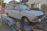 Sortie de grange d'une rare Auto Union Audi 80 Variant de 1967